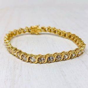 🆕looks so real, sterling/gold overlay bracelet